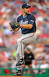 12 April 2008: Atlanta Braves' pitcher John Smoltz in action against the Washington Nationals at Nationals Park, in Washington, DC. The Braves defeated the Nationals 10-2...Mandatory Photo Credit: Ed Wolfstein Photo
