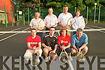 Listowel Tennis Club : Pictured at the start of Listowel Tennis Club's open American tournament in Listowel on Thursday evening last were in front:Shane O'Sullivan, Kieran Dalton, Norma Collins & Leo Allman. Back: Pat Gilchrist, Jerry O'Connor, Gerard Leahy & Denise Galvin. The winners were Leo Allman & Pat Gilchrist.