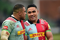 Francis Saili of Harlequins looks on after the match. Aviva Premiership match, between Harlequins and Bath Rugby on March 2, 2018 at the Twickenham Stoop in London, England. Photo by: Patrick Khachfe / Onside Images