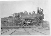D&amp;RG #530 2-6-0 engine with oil lamp on turntable.  Location uncertain.<br /> D&amp;RG