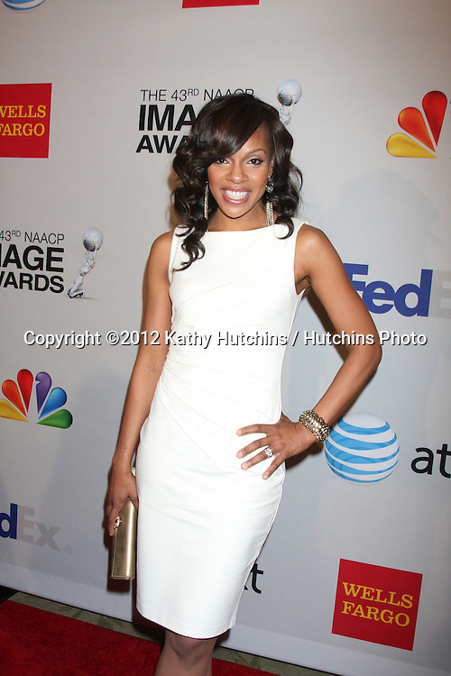 LOS ANGELES - FEB 11:  Wendy Raquel Robinson arrives at the NAACP Image Awards Nominees Reception at the Beverly Hills Hotel on February 11, 2012 in Beverly Hills, CA
