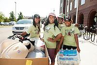 MVNU2MSU 2016 - AKA volunteers outside Dogwood Residence Hall.<br />  (photo by Megan Bean / &copy; Mississippi State University)