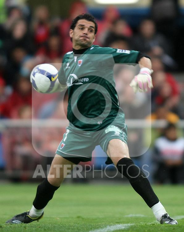 Numancia's Juan Pablo during La Liga match. April 18 2009. .(ALTERPHOTOS/Acero).