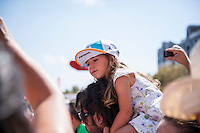 Castellon, SPAIN - SEPTEMBER 7: Kid Astana fan during LA Vuelta 2016 on September 7, 2016 in Castellon, Spain