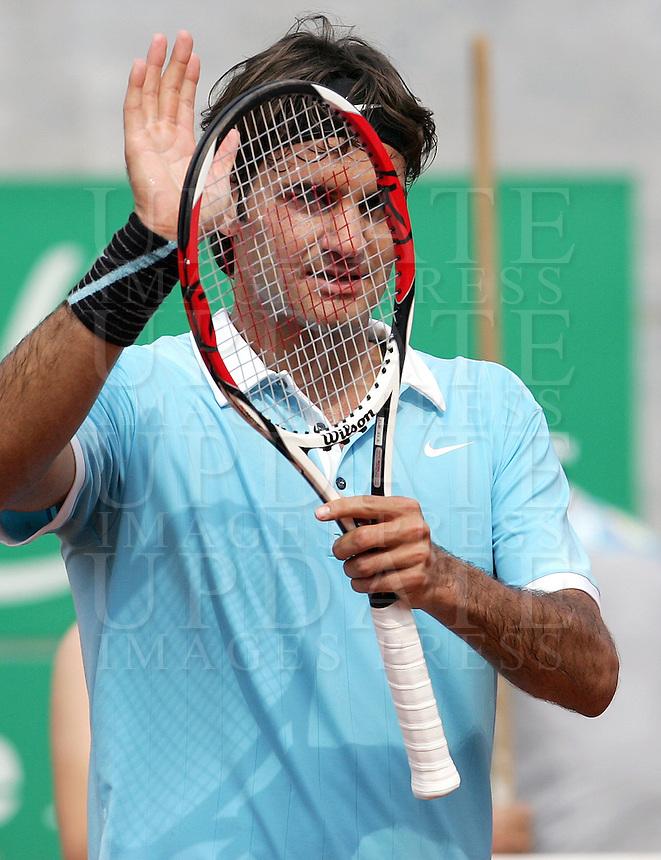 Seconda giornata degli Internazionali d'Italia di tennis a Roma, 6 maggio 2008..Italy's Masters tennis tournament in Rome, 6 may 2008..Switzerland's Roger Federer..UPDATE IMAGES PRESS/Riccardo De Luca