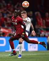 Liverpool's Sadio Manè (l) in action with Tottenham's Toby Alderweired (l) during the UEFA Champions League final football match between Tottenham Hotspur and Liverpool at Madrid's Wanda Metropolitano Stadium, Spain, June 1, 2019. Liverpool won 2-0.<br /> UPDATE IMAGES PRESS/Isabella Bonotto
