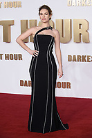 Lily James at the &quot;Darkest Hour&quot; premiere at the Odeon Leicester Square, London, UK. <br /> 11 December  2017<br /> Picture: Steve Vas/Featureflash/SilverHub 0208 004 5359 sales@silverhubmedia.com