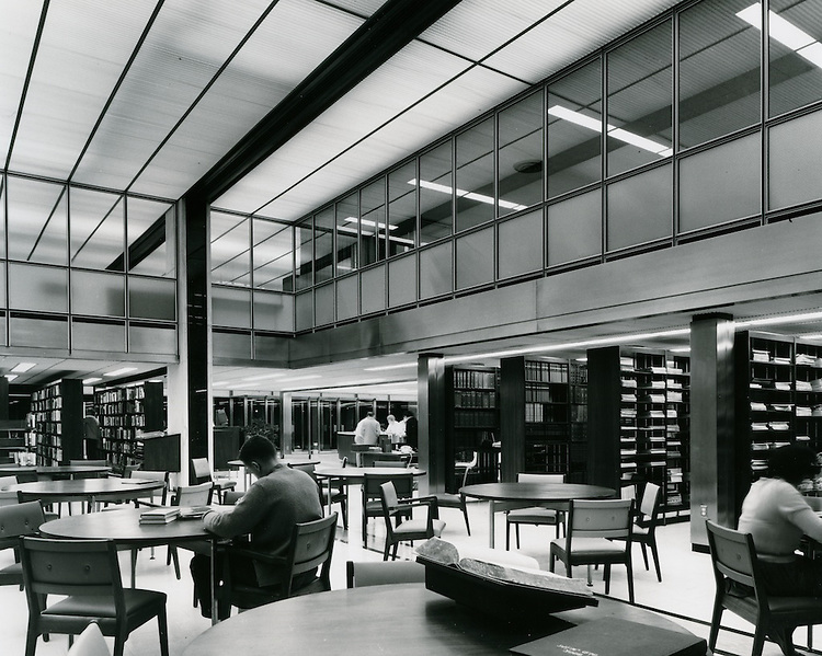 1962 September ..Redevelopment..Downtown South (R-9)..Kirn Memorial Library Interior..HAYCOX - R. V. Fishbeck.NEG# 64-994-7.3005..
