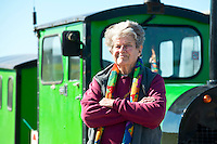 BNPS.co.uk (01202 558833)<br /> Pic: RachelAdams/BNPS<br /> <br /> Owner Joyce Faris. <br /> <br /> There was outrage today after a family that has run one of Britain's first 'Noddy' land trains for 46 years were served with a notice to quit the service.<br /> <br /> The much-loved novelty train that carries people to a remote beach was started in 1968 by the late Roger Faris, who hand-built the carriages himself.<br /> <br /> Since his death 34 years ago his widow Joyce, 88, has operated the independent service for 364 days a year and runs it more as a hobby than a profitable business.<br /> <br /> The little train has been used by generations of people and become a popular fixture at the Hengistbury Head beauty spot in Dorset.<br /> <br /> Now after five decades of service, town hall officials have told Mrs Faris they will not be renewing their contract with her as they intend to operate their own train service.