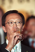 Former Hong Kong Financial Secretary Antony Leung in Hong Kong in June 2002<br /> <br /> Photo by Marcus Oleniuk/sinopix<br /> ©sinopix