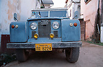 Laotian 1960s Land Rover Series 2a long wheel base Station Wagon. Asia, Laos, Vientiane 2004. --- No releases available. Automotive trademarks are the property of the trademark holder, authorization may be needed for some uses.