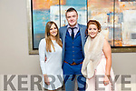Pia Thornton, Sean Maunsell and Triona Brassil enjoying the  Kilmoyley GAA Social in Ballyroe Heights Hotel on Saturday night