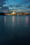Sydney Opera House & Harbour Bridge during blue hour, Sydney, NSW, Australi