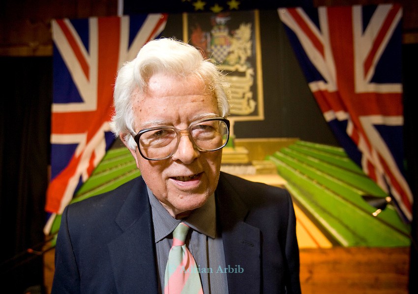 Lord Geoffrey Howe ( Chancellor of the Exchequer in Mrs Thatcher's Government)at a talk in Wootton Oxfordhsire.