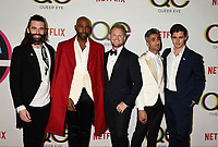WEST HOLLYWOOD, CA - FEBRUARY 07: (L-R) Jonathan Van Ness, Karamo Brown, Bobby Berk, Tan France and Antoni Porowski attend the premiere of Netflix's 'Queer Eye' Season 1 at Pacific Design Center on February 7, 2018 in West Hollywood, California.<br /> CAP/ROT/TM<br /> &copy;TM/ROT/Capital Pictures