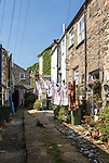Traditional housing in the fishing port of Newlyn, Cornwall, England, UK