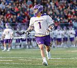 UAlbany Men's Lacrosse defeats Stony Brook on March 31 at Casey Stadium.  Tehoka Nanticoke (#1)