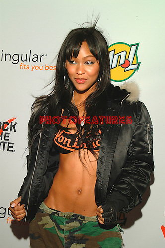 "Meagan Good  (""You Got Served"" movie)..at the 2004 Rock The Vote  Awards at the Hollywood Palladium"