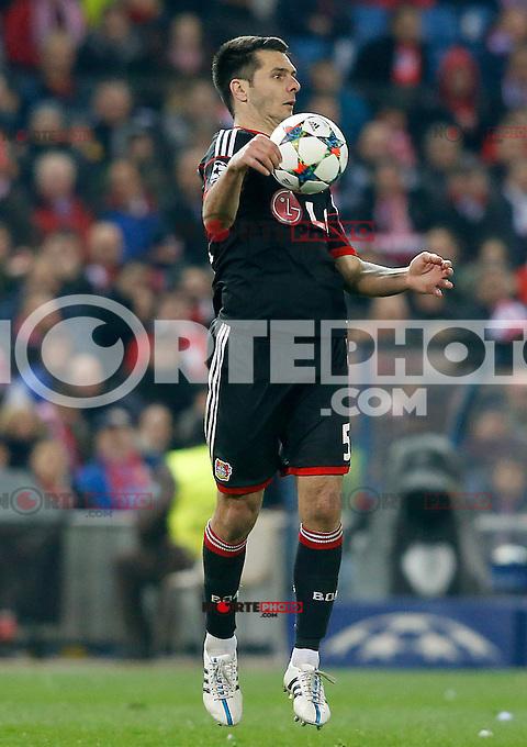 Bayer 04 Leverkusen's Emir Spahic during Champions League 2014/2015 match.March 16,2015. (ALTERPHOTOS/Acero) /NORTEphoto.com