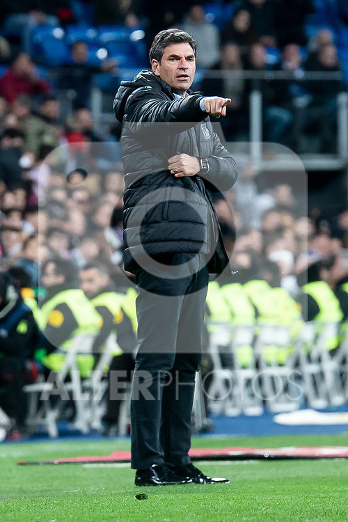 Coach Mauricio Pellegrino of CD Leganes during King's Cup 2018-2019 match between Real Madrid and CD Leganes at Santiago Bernabeu Stadium in Madrid, Spain. January 09, 2019. (ALTERPHOTOS/Borja B.Hojas)