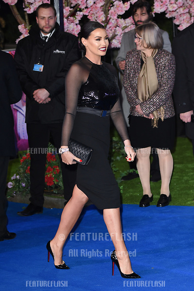 "LONDON, UK. December 12, 2018: Jessica Wright at the UK premiere of ""Mary Poppins Returns"" at the Royal Albert Hall, London.<br /> Picture: Steve Vas/Featureflash"