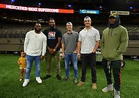 New Orleans, LA - Thursday October 19, 2017: New Orleans Saints during an International friendly match between the Women's National teams of the United States (USA) and South Korea (KOR) at Mercedes Benz Superdome.