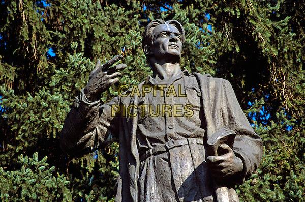 Nikola Vaptsarov Statue, Bansko, Bulgaria
