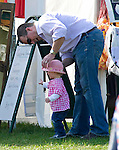"SAVANNAH CHUCKS HER BONNET WHILE HER FATHER PETER TRIES TO KEEP HER PROTECTED FROM THE SUN WITH IT..Peter Phillips and Autumn Kelly's first child and the Queen's first great-grandchild, Savannah took her first steps in public..The 15-month-old was at the Gatcombe Horse Trials, Minchinhampton. .Mandatory credit photo: ©Dias/NEWSPIX INTERNATIONAL..(Failure to credit will incur a surcharge of 100% of reproduction fees)..                **ALL FEES PAYABLE TO: ""NEWSPIX INTERNATIONAL""**..IMMEDIATE CONFIRMATION OF USAGE REQUIRED:.Newspix International, 31 Chinnery Hill, Bishop's Stortford, ENGLAND CM23 3PS.Tel:+441279 324672  ; Fax: +441279656877.Mobile:  07775681153.e-mail: info@newspixinternational.co.uk"