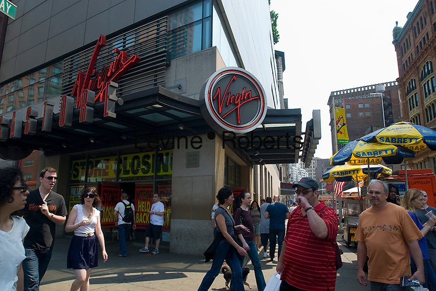 The Virgin Megastore in Union Square on Broadway in New York on Saturday, May 23, 2009. Virgin announced that it will be closing all six of it's stores around the country by the summer. The stores, which have been in existence for two decades are a casualty of the economy and the changing landscape in music distribution. (© Richard B. Levine)