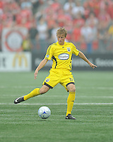 Brian Carroll (16) in action at BMO Field where the Toronto FC played hosts to the Columbus Crew on Saturday September 13, 2008. .The game ended in a 1-1 draw.