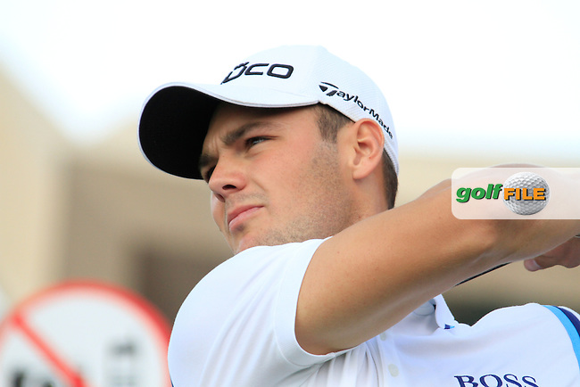 Martin Kaymer tees off on the 1st tee to start his back 9 during Thusday Day 1 of the Abu Dhabi HSBC Golf Championship, 20th January 2011..(Picture Eoin Clarke/www.golffile.ie)