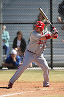 March 15, 2010:  Adam Brown of the Cortland Red Dragons in a game vs Wheaton College at Lake Myrtle Park in Auburndale, FL.  Photo By Mike Janes/Four Seam Images