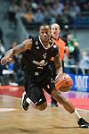 BO MCCALEBB, estrella del equipo italiano. REAL MADRID - MONTEPASCHI SIENA. Euroleague 2012. 25 Enero,Palacio de los Deportes.