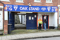 General view outside Kenilworth Road Stadium, home of Luton Town Football Club ahead of the Sky Bet League 2 match between Luton Town and Wycombe Wanderers at Kenilworth Road, Luton, England on 26 December 2015. Photo by David Horn.
