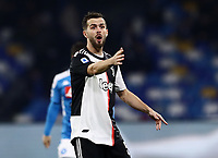 26th January 2020; Stadio San Paolo, Naples, Campania, Italy; Serie A Football, Napoli versus Juventus; Miralem Pjanic of Juventus gives directions