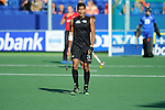 The Hague, Netherlands, June 01: Arun Panchia #24 of New Zealand looks on during the field hockey group match (Men - Group B) between the Black Sticks of New Zealand and Korea on June 1, 2014 during the World Cup 2014 at GreenFields Stadium in The Hague, Netherlands. Final score 2:1 (1:0) (Photo by Dirk Markgraf / www.265-images.com) *** Local caption ***