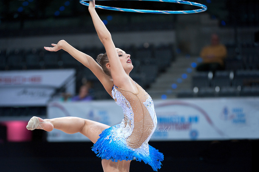 September 8, 2015 - Stuttgart, Germany - MELITINA STANIOUTA of Belarus performs during AA qualifications at 2015 World Championships.