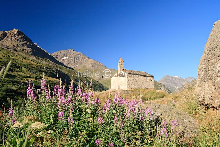 France, Savoie (73), Bonneval-sur-Arc, hameau de l'Écot, la chapelle // France, Savoie, Bonneval sur Arc, hamlet of l'Ecot, the chapel