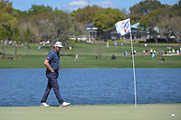 Eddie Pepperell (ENG) looks over his putt on 6 during round 1 of the Arnold Palmer Invitational at Bay Hill Golf Club, Bay Hill, Florida. 3/7/2019.<br /> Picture: Golffile | Ken Murray<br /> <br /> <br /> All photo usage must carry mandatory copyright credit (© Golffile | Ken Murray)