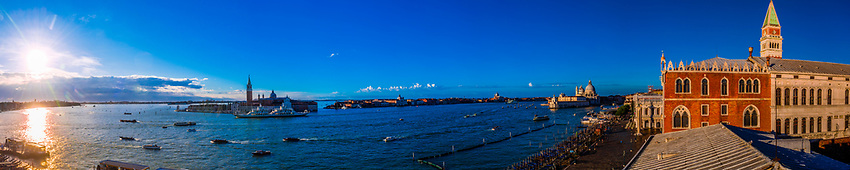 Panoramic view of the lagoon, Venice, Italy.
