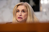 United States Representative Carolyn Maloney (Democrat of New York) speaks to ChairBoard of Governors of the Federal Reserve System Jerome Powell during the U.S. Congress Joint Economic Committee hearing on Capitol Hill in Washington D.C., U.S., on Wednesday, November 13, 2019.<br /> <br /> Credit: Stefani Reynolds / CNP
