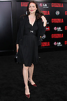 """HOLLYWOOD, LOS ANGELES, CA, USA - MAY 08: Saffron Burrows at the Los Angeles Premiere Of Warner Bros. Pictures And Legendary Pictures' """"Godzilla"""" held at Dolby Theatre on May 8, 2014 in Hollywood, Los Angeles, California, United States. (Photo by Xavier Collin/Celebrity Monitor)"""