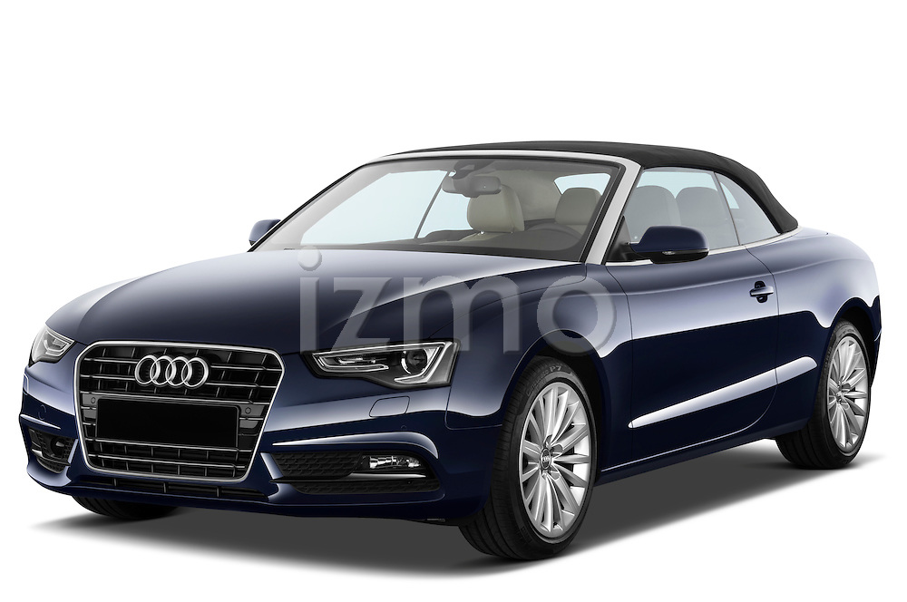 Front three quarter view of a 2013 Audi A5 Convertible with the top up...