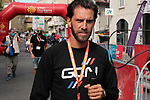Loic Chetout former rider now GCN reporter at sign on before Stage 3 of the Route d'Occitanie 2020, running 163.5km from Saint-Gaudens to Col de Beyrède, France. 3rd August 2020. <br /> Picture: Colin Flockton | Cyclefile<br /> <br /> All photos usage must carry mandatory copyright credit (© Cyclefile | Colin Flockton)