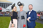Mary Houlihan, Listowel Best Dressed lady Winner at the Listowel Races on Friday Pictured  Pippa Ormond O'Connor (Judge) Mary Houlihan, Listowel, Daithi O Se (Judge)