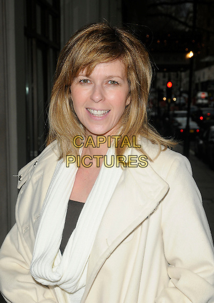 "KATE GARRAWAY.At ""The Princess And The Frog"" Gala Screening, Mayfair Hotel, London, England, UK, January 24th 2010..portrait headshot cream white scarf  tired no make-up.CAP/CAN.©Can Nguyen/Capital Pictures"