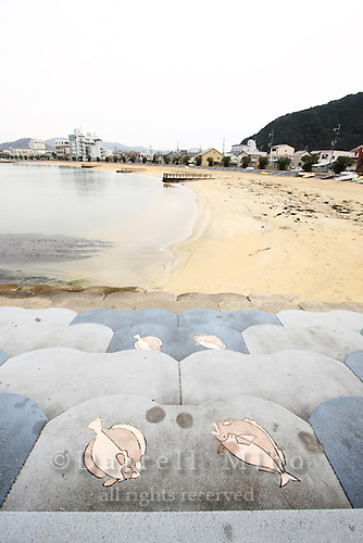 Jan. 21, 2009; Obama, Fukui Prefecture, Japan - Fish decorate the steps of the Tsubasa Terrace Lookout along the beachfront in Obama.