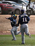 Images from a triple-A spring training game between the Dodgers and the Brewers in Glendale, Ariz., on Friday, March 15, 2019. <br /> Photo by Cathleen Allison/Nevada Momentum