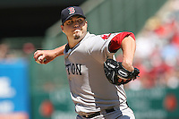 07/28/10 Anaheim, CA: Boston Red Sox starting pitcher Josh Beckett #19 during an MLB game between the Boston Red Sox and the Los Angeles Angels played at Angel Stadium. The Red Sox defeated the Angels 7-3.
