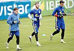 Spain's Iker Casillas, David De Gea and Sergio Rico during preparing training stage to Euro 2016. May 30,2016.(ALTERPHOTOS/Acero)